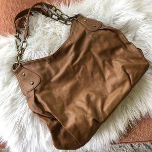 Express Large Camel Colored Shoulder Bag